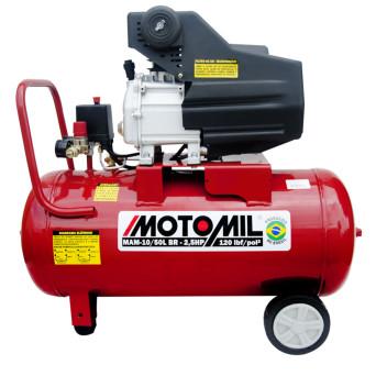 Motocompressor de Ar 2.5HP Monofásico 120PSI BIVOLT 10/50BR Motomil