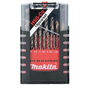 kit Brocas Aço Rápido 5% Cobalto 19 Pcs D50463 Makita