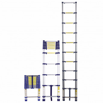 Escada Telescópica 10 Degraus Capacidade 150kg Everest Mor
