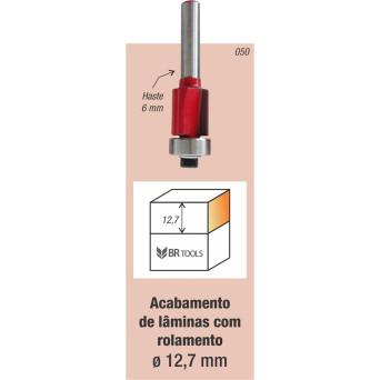 Fresa Tupia Paralela Rolamentada 12.7mm Haste 6mm