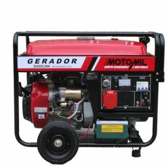Gerador de Energia à Gasolina Partida Elétrica 4T 8 Kva MGG-8000CLE Bivolt Motomil