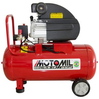 Motocompressor de Ar 2HP Monofásico 120PSI MAM-8,7/50BR Motomil